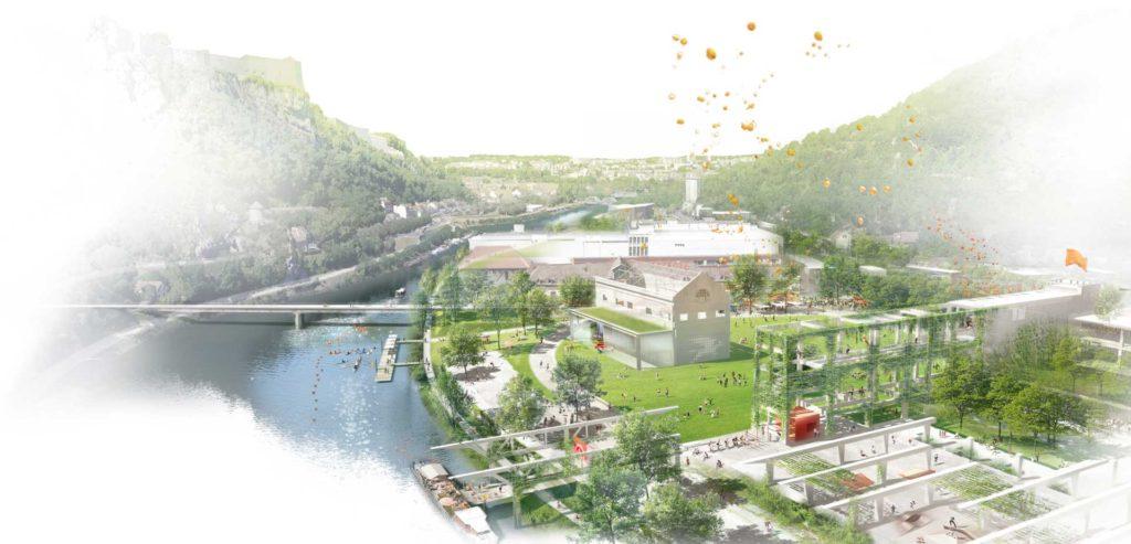 Besançon parc de la Soierie - vue aérienne