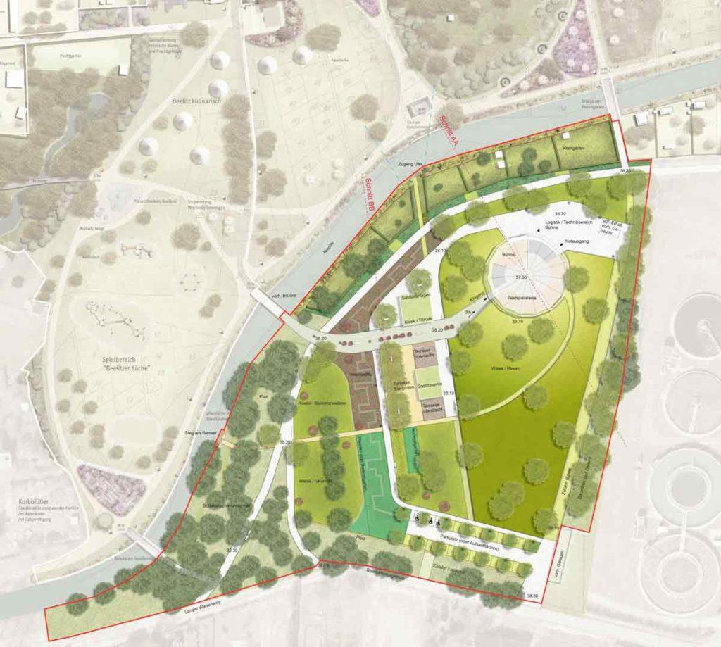 Beelitz plan masse de projet Orizhome