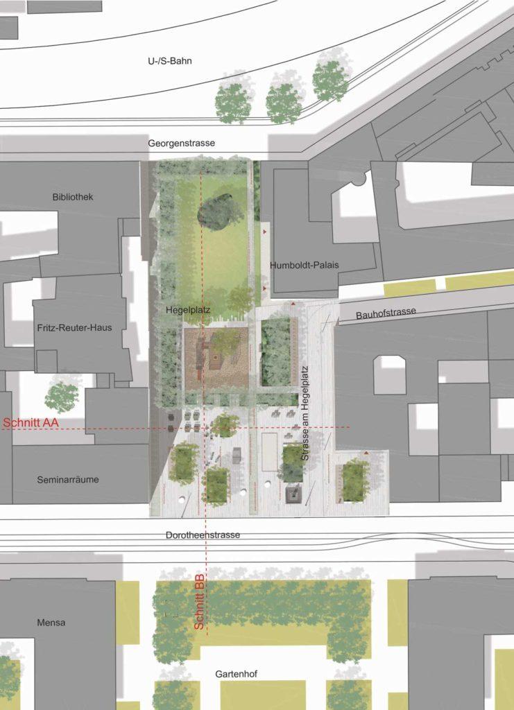 Hegelplatz Berlin plan masse